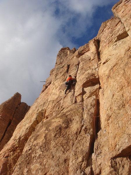 Rock Climbing Photo: T Bob on The Raven.