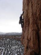 Rock Climbing Photo: Matt leading Divinity School.