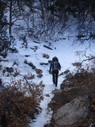 Rock Climbing Photo: Crossing the stream bed on the way back to the Ban...