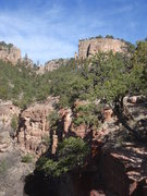 Rock Climbing Photo: Menses Prow and Dragon's Lair from the trail.