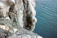 Rock Climbing Photo: Charlie seconding my lead