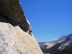 Rock Climbing Photo: Awesome 5.9 roof in Tuolomne.