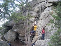 Rock Climbing Photo: Misha on the Widower Wall.
