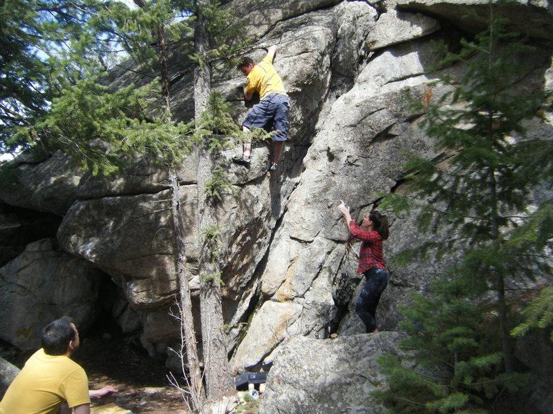 Rock Climbing Photo: MZ doing his thing.