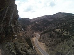 Rock Climbing Photo: Up canyon view from original route.