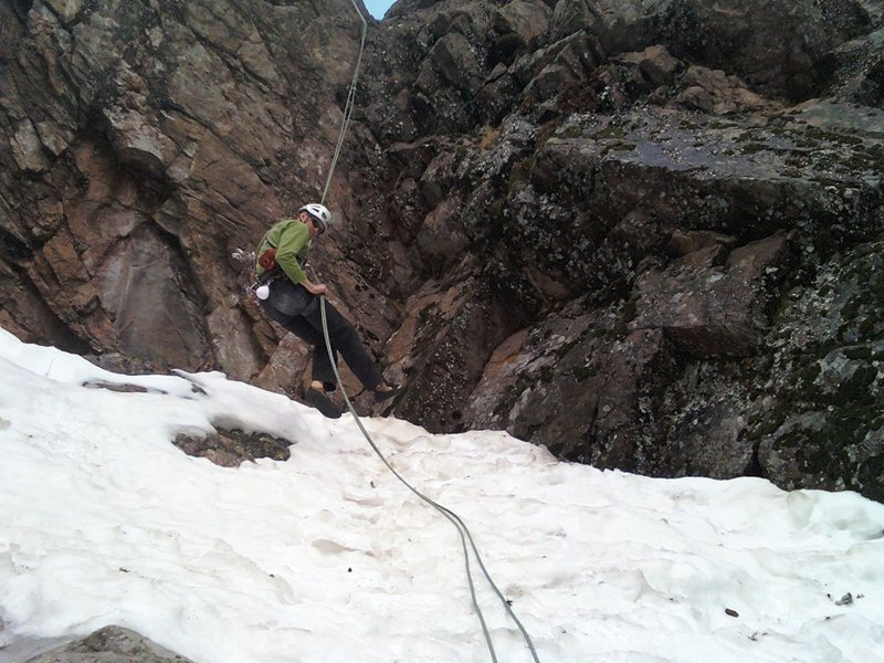 Rock Climbing Photo: ....And into the snow....