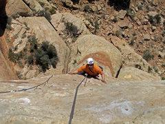 Rock Climbing Photo: Brad Brandewie follow in the second pitch.