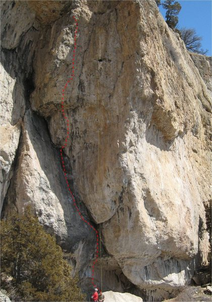 Rock Climbing Photo: Ring of Fire.  The yellow rope is on Bush Doctor.