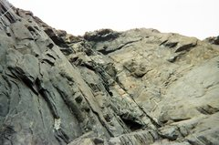 Rock Climbing Photo: looking up from the belay ledge