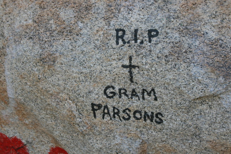 ROWCC Club Trip 4-9 to 4-11 2010.<br> Ten in a day trip.<br> Gram Parsons Memorial Boulder.