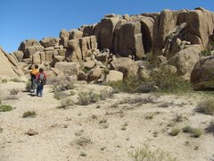 Rock Climbing Photo: My boys on approach to Zebra Cliffs, North Face. W...