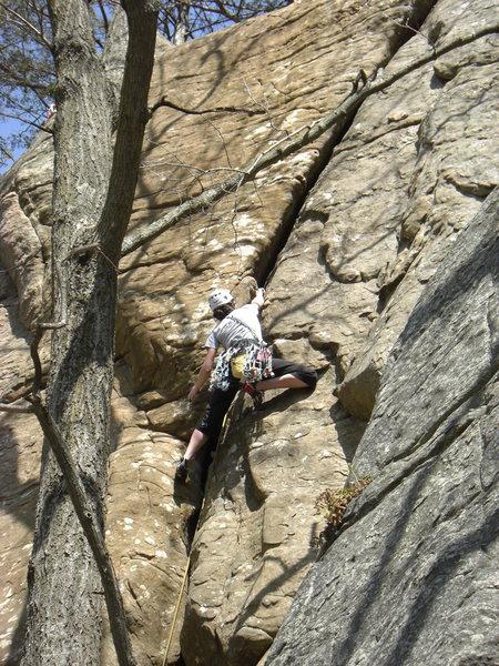 Rock Climbing Photo: Ellen on the lead.