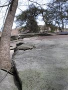 Rock Climbing Photo: Another line up U-Slot. A bit run out between the ...