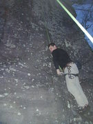 Rock Climbing Photo: 4-11-2010 Doing the Mantel Move for Soul Food at t...