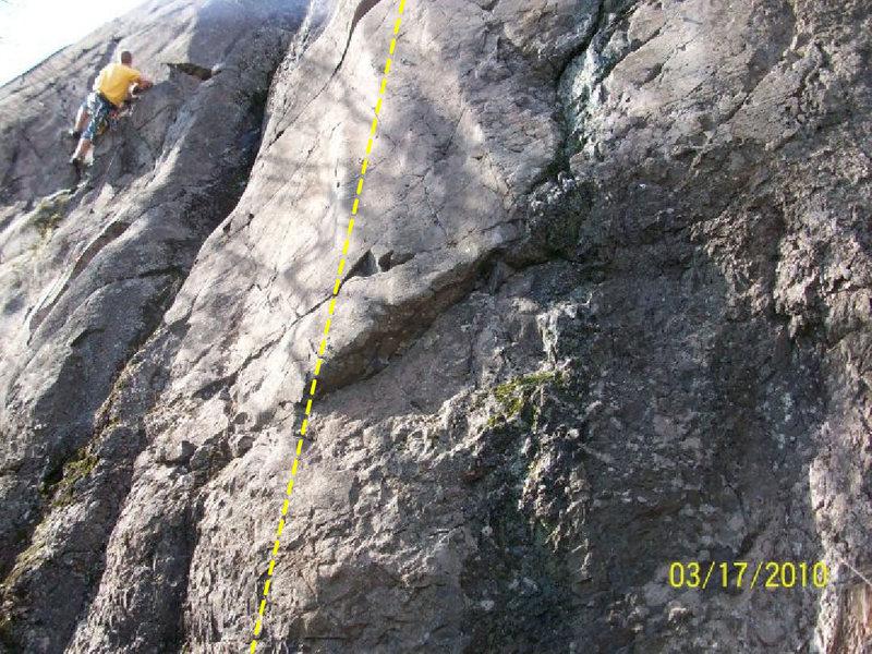 """Rock Climbing Photo: """"Scrotum"""""""