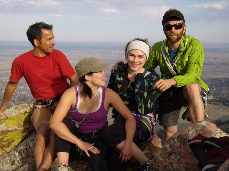 Timmy, John, Andi, Elise.  First Flatiron.  April 11, 2010.