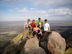 Rock Climbing Photo: The whole circus act, First Flatiron, April 2010