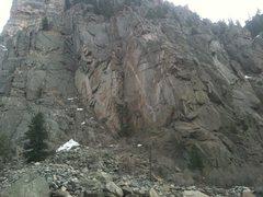 Rock Climbing Photo: Fountain Buttress in Glenwood Canyon.