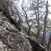 Lower half of the climb.