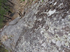 Rock Climbing Photo: From the top. The climbs around here always end up...