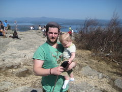 Rock Climbing Photo: My son and i on top of Mount Major