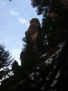 Rock Climbing Photo: Unknown Tower in Glenwood Canyon.