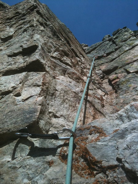 Upper part of Saddle/West Face route.