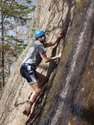Rock Climbing Photo: Brian Ferkaluk, afraid of the water spilling down ...