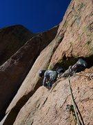 Rock Climbing Photo: Mark B leading the horizontal. Beware of the loose...
