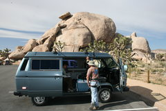 Rock Climbing Photo: taking a break to look up some climbs mid way thro...
