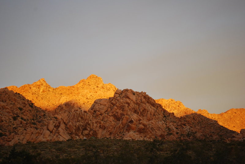 sunrise over camp on climbing day