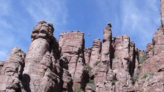 Rock Climbing Photo: Marcy mid-route showing how amazingly cool that tr...
