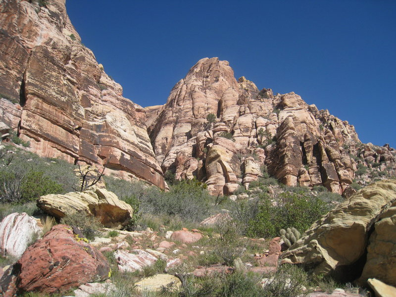 Rock Climbing Photo: Jackrabbit Buttress, Geronimo is in there somewher...