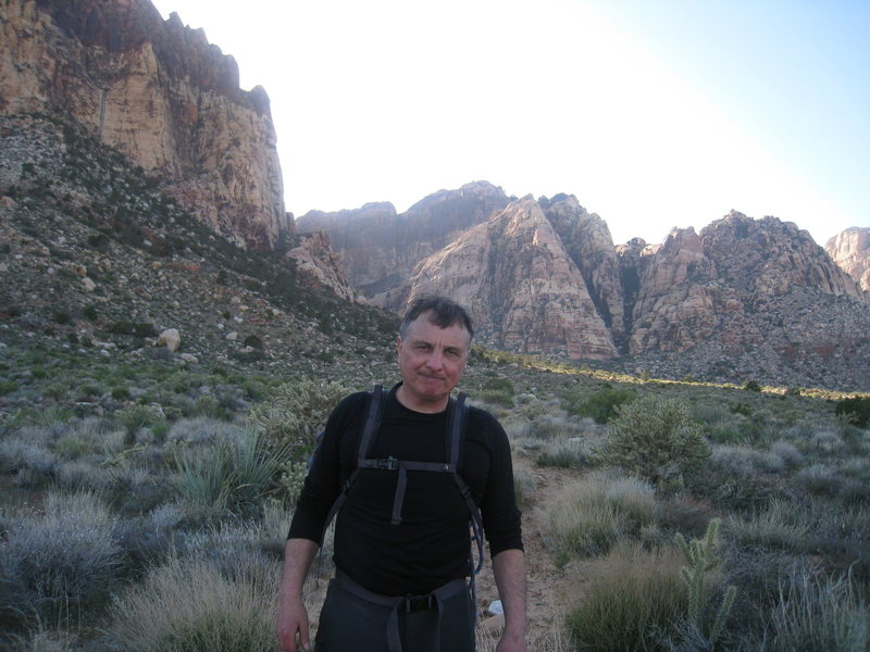 Dehydrated, hot but happy on the knackering hike back to Juniper Canyon trailhead