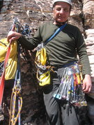 Rock Climbing Photo: Ray ready for a little bit of route finding on pit...