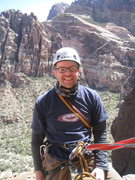Rock Climbing Photo: At the belay on the 5th and final pitch! Check tha...