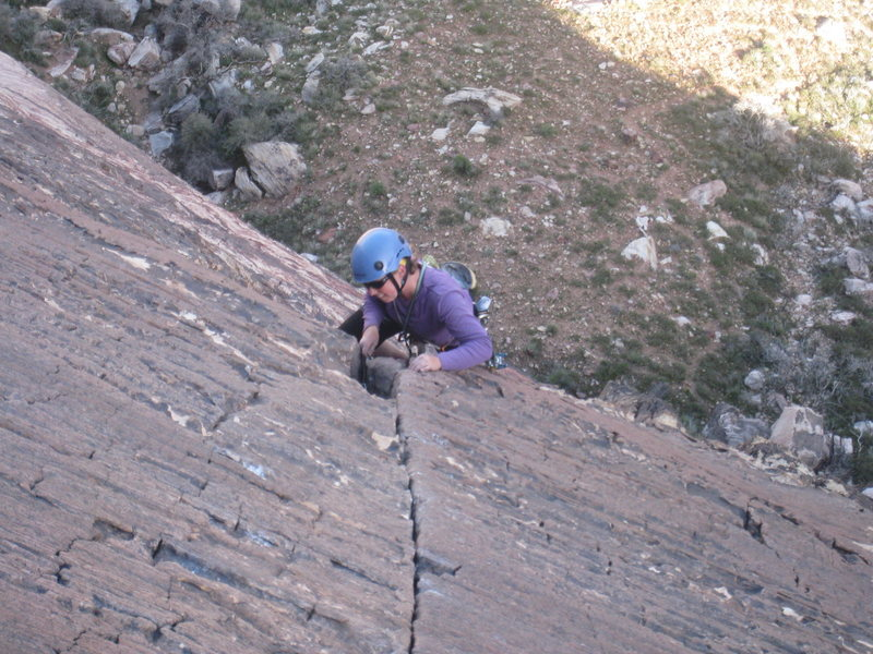 Rock Climbing Photo: The party following us on Birdland. Sorry I didn't...