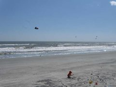Rock Climbing Photo: Folly Beach kitesurf