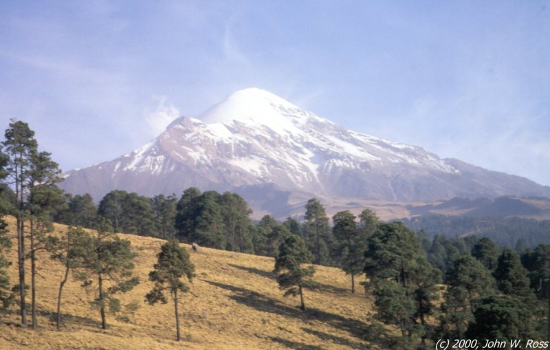 View of Pico de Orizaba from the village of Miguel Hidalgo, reported to be the highest village in North America (11,150 ft).