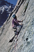 Rock Climbing Photo: On the Barb, June,1975.   Our 4th pitch (3rd pitch...