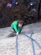 Rock Climbing Photo: Kristen on Strawberry Fields