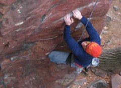 Rock Climbing Photo: Burt grits his teeth