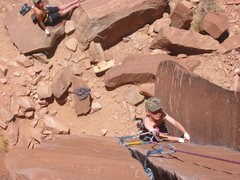 Rock Climbing Photo: Big C doin' some cleanin'.