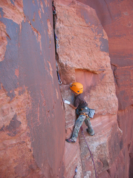 Rock Climbing Photo: makin' mom nervous....
