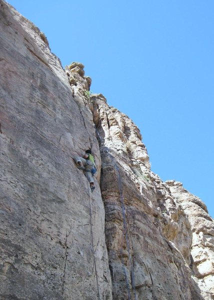 Rock Climbing Photo: Bob Robinson making it happen!