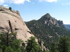 Rock Climbing Photo: The Dome and Cathedral Spires from the saddle betw...