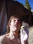 Rock Climbing Photo: The beaver skull after which I had no choice but t...