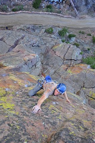 Rock Climbing Photo: Scott cruxing.