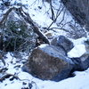 More boulders that came down and stopped in the stream bed -- Rock Canyon, 2010.
