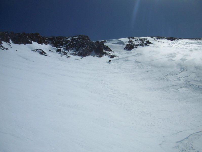 Rock Climbing Photo: Powder farming on Redcloud peak.
